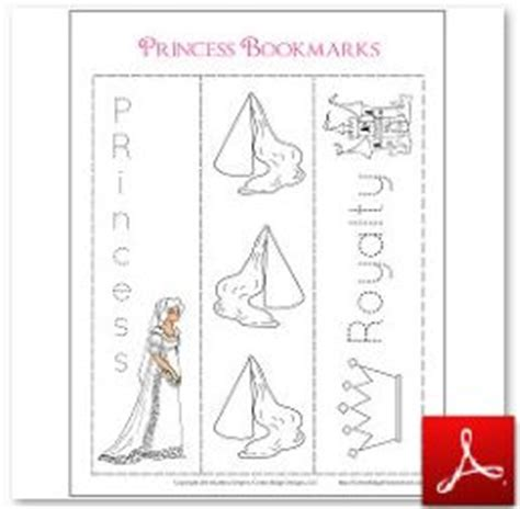 printable princess bookmarks crafts for kids coloring mini books bookmarks and