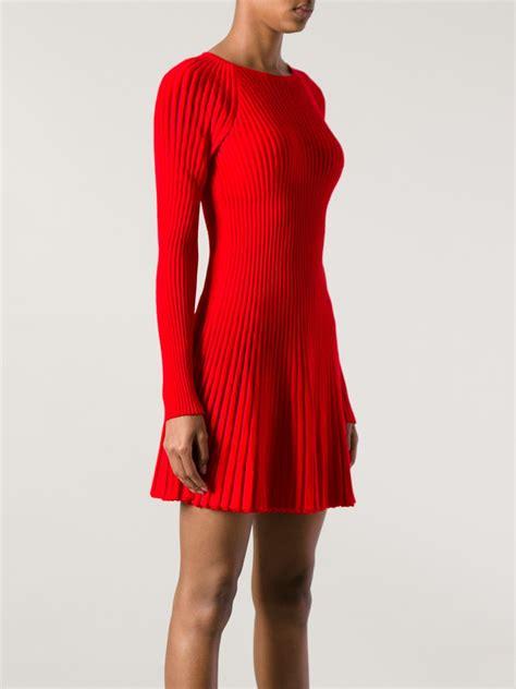 Dress Knit lyst mcqueen ribbed knit dress in