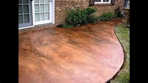 pictures of stained concrete patios ideas