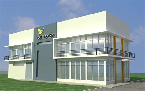 desain facade kantor pln tarakan