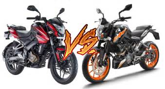 Bajaj Ktm Bajaj Pulsar Ns200 Vs Ktm Duke 200 Comparison Of Price