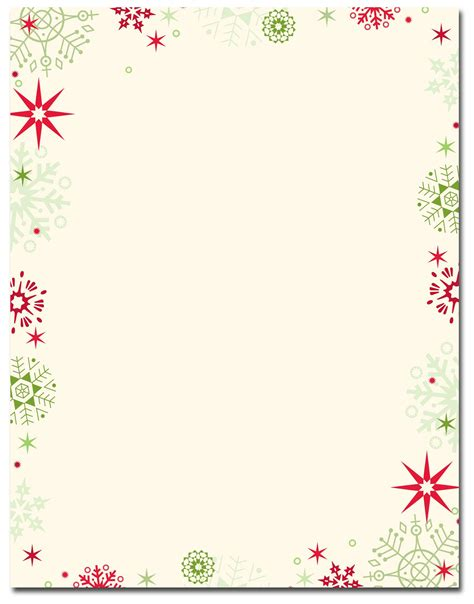 red green flakes letterhead christmas letterhead