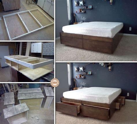 Platform Bed Instructions 25 Best Ideas About Platform Bed Storage On Pinterest