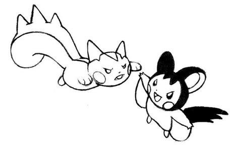pokemon coloring pages pachirisu pachirisu vs emolga by realarpmbq on deviantart