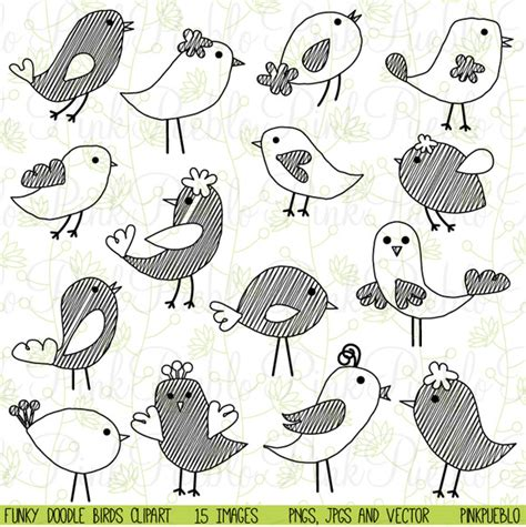 doodle animals vector free doodle birds clipart vectors illustrations on