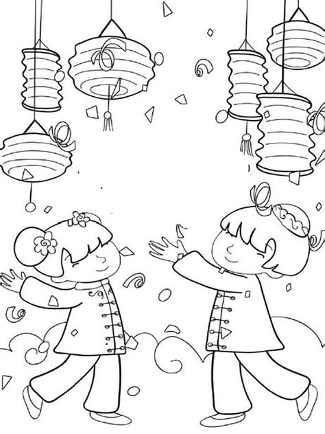 coloring page for year of the new year colouring pages new year family