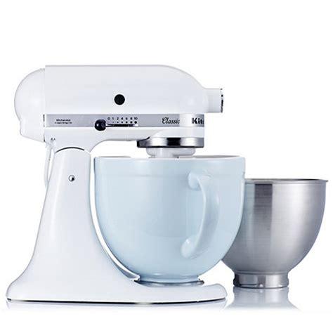 kitchenaid k45 classic mixer with coloured ceramic bowl