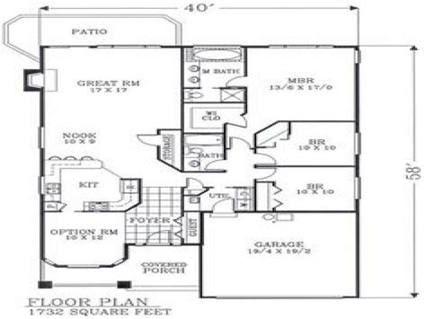Craftsman Open Floor Plans | craftsman open floor plans craftsman bungalow floor plans