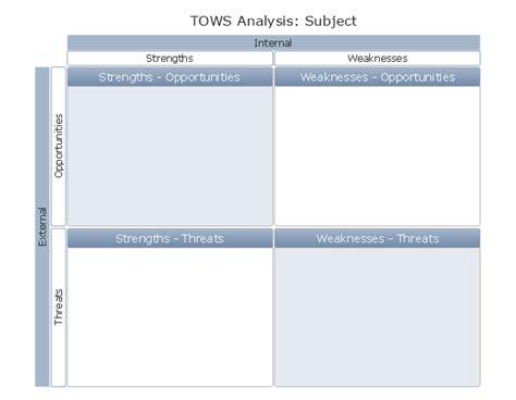 tows matrix swot analysis examples swot analysis