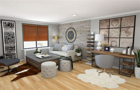 online design a room before after modern rustic living room design online