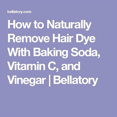 How To Detox Your Hair With Baking Soda by The 25 Best Hair Dye Removal Ideas On