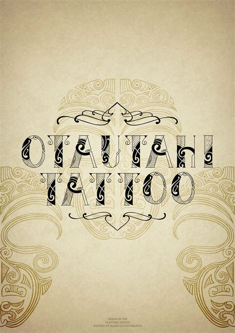 tattoo fonts nz maori tattoo font on behance
