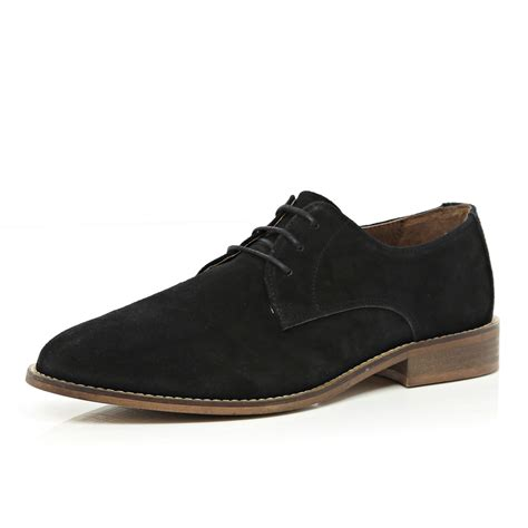 river island shoes river island black suede formal shoes in black for lyst