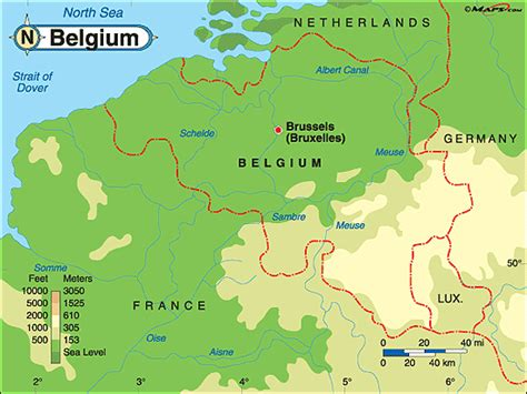 belgium geographical map belgium mountains and rivers www imgkid the image