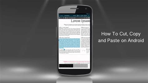 copy and paste android how to cut copy and paste text on android phone