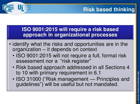 risk based thinking managing the uncertainty of human error in operations books iso 9001 2015 revision presentation