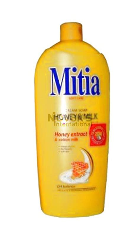 mitia honey liquid soap milk 1 l for 1 52 novakstore