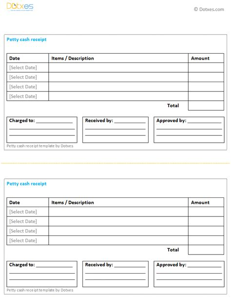 petty cash receipt template multiple payments dotxes