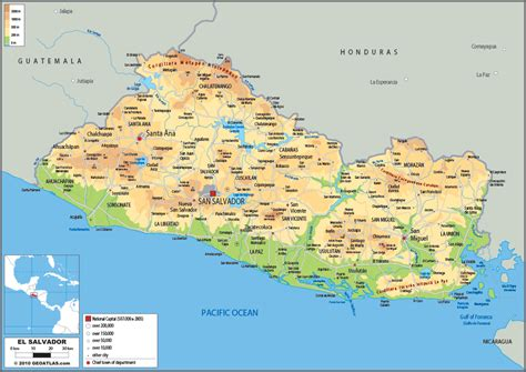 the map of el salvador el salvador map with cities blank outline map of el