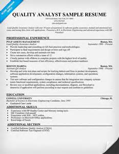 Analyst Resume Template by Resume Format Qa Analyst Resume Sles