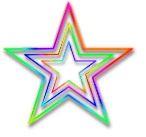 imagenes png neon neon star transparent png stickpng