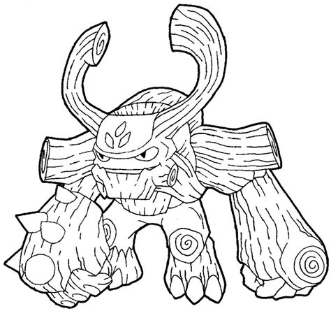 Coloring Page Tree Rex | how to draw tree rex from the game skylanders giants with