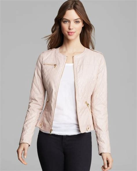 Guess Leather Pink guess jacket faux leather in pink lyst