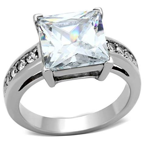 Princess Ss princess cut cz ss ring sizes 6 9 183 jenuine crafts and