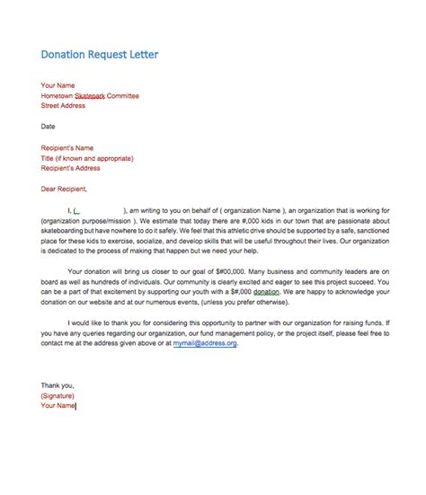 sample donation request letter company top form