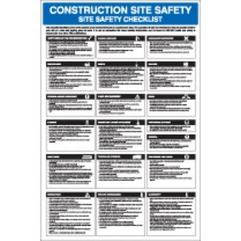 Construction Site Safety Checklist Poster Enfield Safety Construction Site Safety Checklist Template