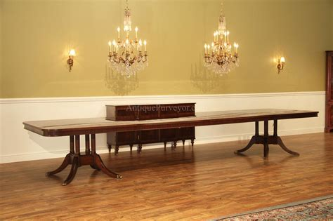 large dining room table seats 20 16 foot pedestal mahogany dining table w