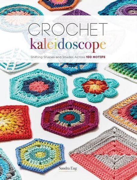 crochet kaleidoscope shifting shapes and shades across