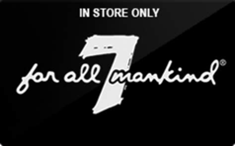 Where To Buy One For All Gift Cards - buy 7 for all mankind in store only gift cards raise