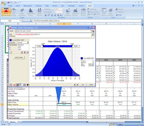 Monte Carlo Simulation Excel Template by Probability Density Function Excel 2003
