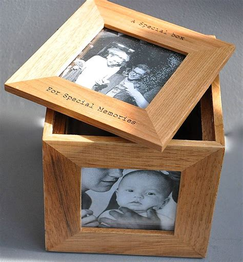 Wedding Keepsake Box Not On The High by Personalised Oak Photo Cube Keepsake Box By