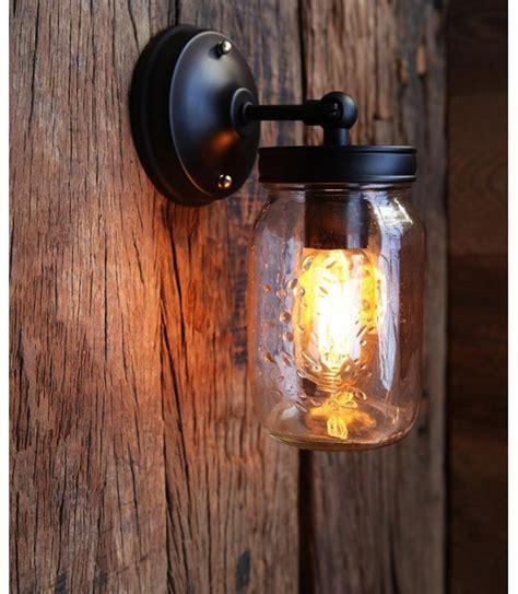 Applique murale Vintage à Cage industriel Ampoule filament