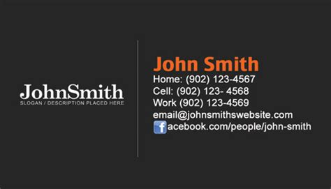 personal cards templates personal business cards personal cards design and