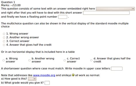 Letter Of Credit Questions And Answers Embedded Answers Cloze Question Type Moodledocs