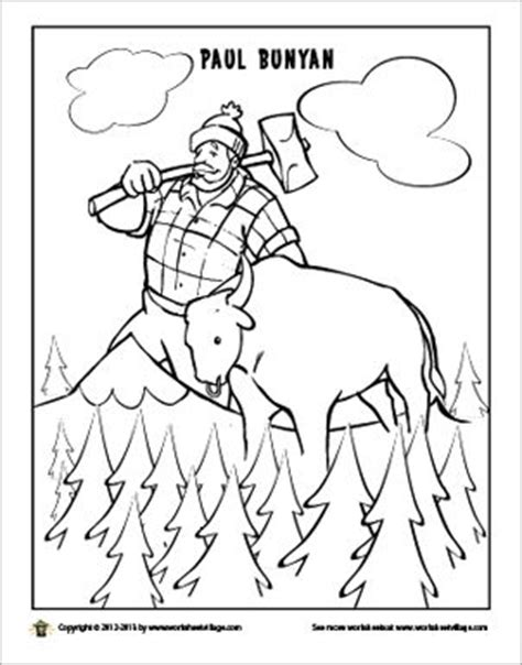 paul bunyan coloring page science and social studies