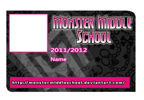 printable monster high student id cards mms school id base by kpendragon on deviantart