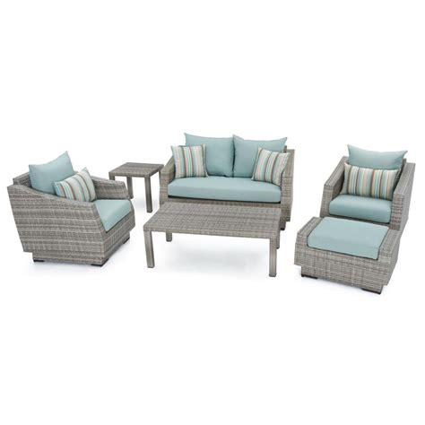 Rst Brands Cannes 6 Piece Patio Seating Set With Bliss Patio Furniture Conversation Set