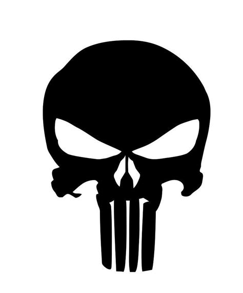 punisher template punisher skull stencil vinyl seals buds navy cerakote