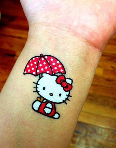 hello kitty tattoo design umbrella design my hello with umbrella