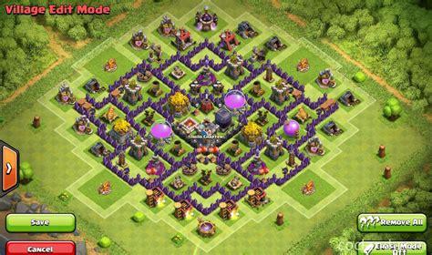 layout unik coc th 8 mountain lion farming base for th8 clash of clans land