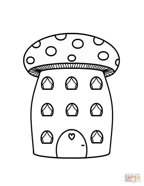 mushroom house coloring pages mushroom house coloring page free printable coloring pages