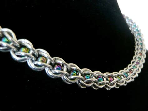 captured bead chainmaille captive bead chainmaille necklace chainmaille necklace