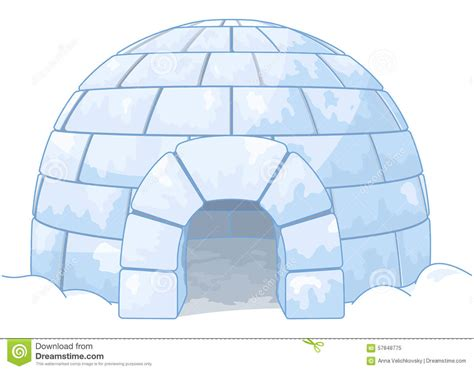 3d House Plans Free igloo stock vector image 57848775