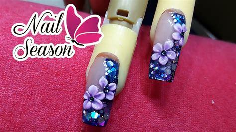 imagenes de uñas acrilicas con swarovski como hacer almendra exotica con flores 3d u 241 as de acrilico