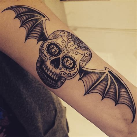 a7x tattoo designs bat pairodicetattoos