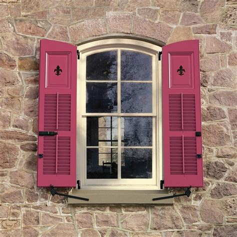 hanging decorative exterior shutters rustic shutters historical elegance and house exterior ideas
